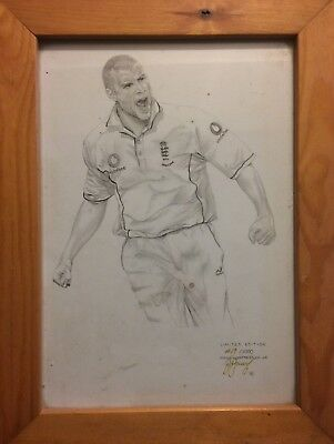 "Limited Edition Print Andrew ""freddie"" Flintoff Ashes 2005"
