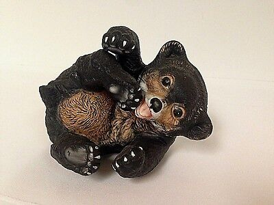 Baby Bear Cub Figurine by R J Brown RSL 1979~Signed and Numbered #5222