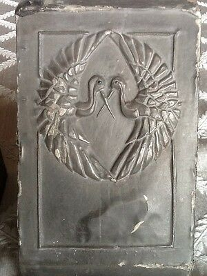 Antique Pewter Bookends