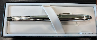 Cross Townsend Platinum Plated AT0046 1MD Fountain Pen