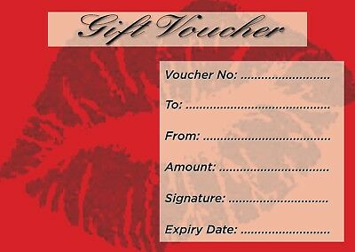Blank Beauty Salon Gift Voucher x10 + Envelopes