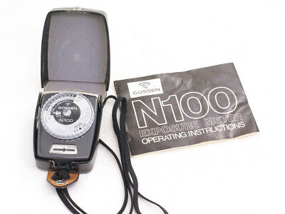 Gossen N100 Light Meter with leather case