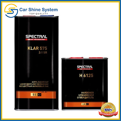 Spectral Acrylic Clearcoat Lacquer 2K 2:1 Scratch Resistant High Gloss SR 7.5L