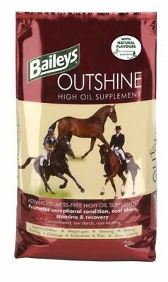 Baileys Outshine High Oil Supplement 20kg Horse Food feed