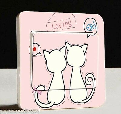 Brand New Multicolor L 9.8 * W 9.8 CM Cartoon Switch Sticker 10 PCS