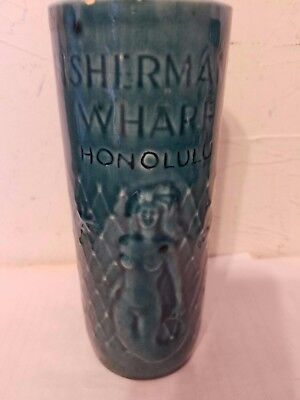 Fisherman's Wharf Honolulu, Hawaii Naked Mermaid Tiki Cup Ceramic Drink Glass