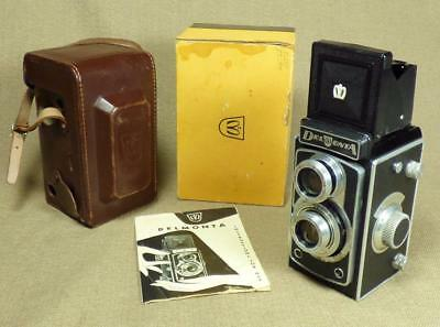 "MONTANUS ""DELMONTA"" - TLR CAMERA with Leather Case, Instructions & Box - Germany"