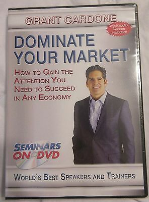 Grant Cardone Dominate Your Market Seminar DVD Brand New Factory Sealed