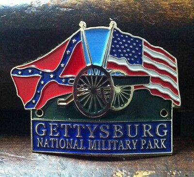 FLAGS Gettysburg National Military Park Hiking Medallion, Shield, Staff NEW!