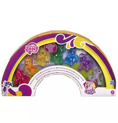 7 My Little Pony Miniatures Crystal Empire Rainbow Collection Includes Stickers