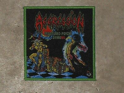 Aggression--Fractured Psyche Demons Woven Patch