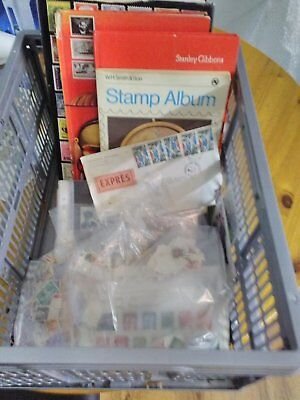 Stamp albums ,loose stamps and reference books