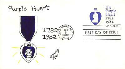 U603 20c Purple Heart, Tammy Lee H/P Hand Painted [E281435]
