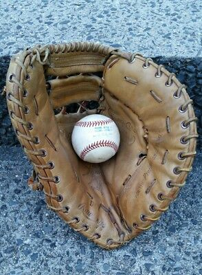RARE Mickey Mantle Rawlings DCT Heart of the Hide Firstbase mitt glove Yankees