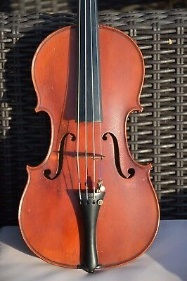 Old FRENCH violin, Charles BAILLY 1918 signed and marked, with authentification