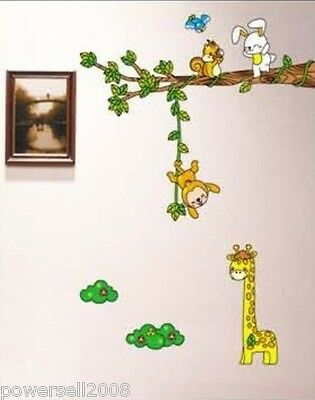 Animals Bedroom Living Room Background Wall DIY Combination Wall Stickers 10 PCS