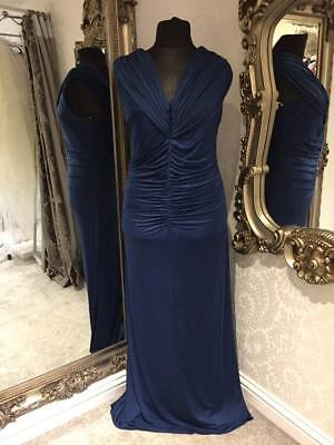 Size 22 Blue Dessy Evening Dress Prom Dress Bridesmaid Dress Ballgown