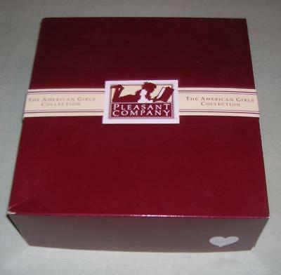 Pleasant Company American Girl 1991 LARGE MAROON EMPTY BOX with TISSUE & SLEEVE