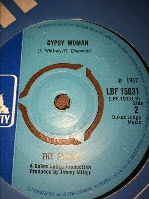 """The Family.1967.Scene Through The Eye Of A Lens .7""""45rpm Gypsy Woman. EX Rare"""