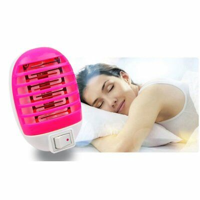 LED Electric Mosquito Fly Pest Bug Insect Zapper Killer Night Lamp 110-240V