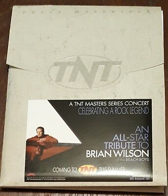 Brian Wilson Incredibly rare TNT Tribute Journalist Press pack w/slides, tickets