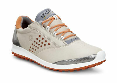 ECCO BIOM HYBRID 2 Golf Shoe Womens Medium Oyester/Orange New 2018