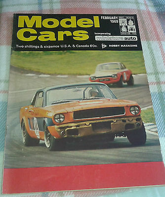 Model Cars Magazine February 1969 Die cast slot car kits radio control plans etc