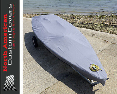Laser Dinghy Sail Boat Deck Cover - Tailored - Grey {125G}