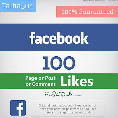 100 Facebook/Likes for page or post or comment | Best Quality