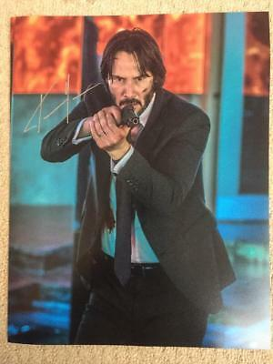 Keanu Reeves, John Wick 11x14 Signed Authentic Autograph Photo COA
