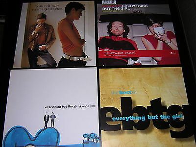 """Everything But The Girl Album Sleeve + 3 Promotional 12""""x12"""" Cards"""