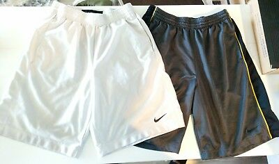 Lot of 2: NIKE men's basketball gym shorts medium M