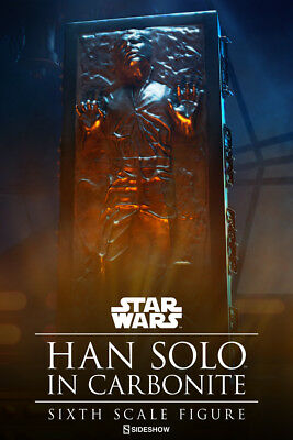 """Han Solo in Carbonite Sixth Scale Figure Sideshow ESB Empire Strikes Back 12"""""""