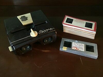 """Revere """"stereo 22""""  Camera Viewer With Stack Of Slides"""