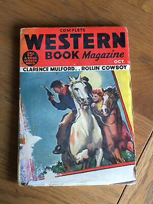 Complete Western Book Magazine - October 1933 - Clarence Mulford etc.
