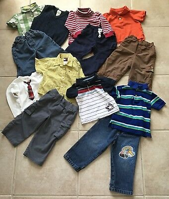 Lot of Boys Clothes size 18 24 months Fall Winter Cute Nice Outfits