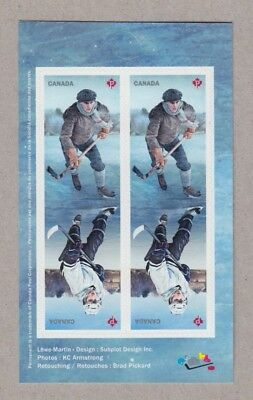 ma. HOCKEY HISTORY Block of 4 stamps Back BKLT page with image MNH Canada 2017