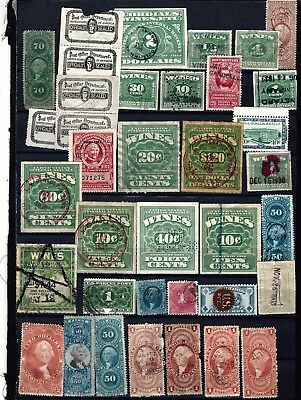 K7 USA BOB revenue wines playing card postal seats stamp collection cancels