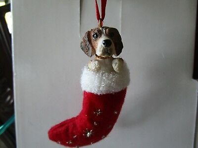 dog pet animal statue stocking christmas tree holiday ornament beagle