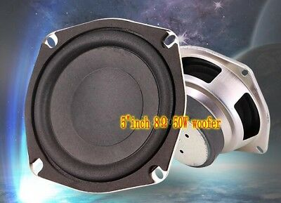 "2pcs 5""inch 120mm 8Ω 50W Woofer Subwoofer speaker Loudspeaker Home Audio parts"
