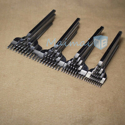 Leather Craft Tools Hole Chisel Graving Stitching Punch Tool Set 3 / 4 / 5 / 6MM