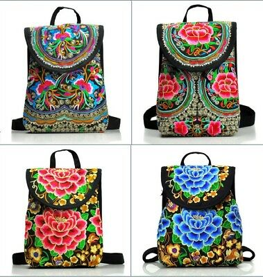 NEW Women Ethnic/Oriental/Chinese Embroidery Backpack Rucksack Travelling Bag