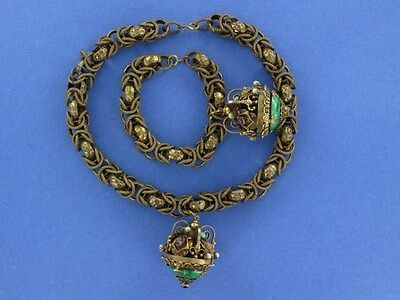 Amazing, Very Ornate and CHUNKY Demi Parure of Necklace and Bra (ST842)