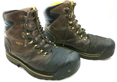 Keen  Milwaukee Mens Leather 8''  Heavy Duty Work  Boots, Sz 11