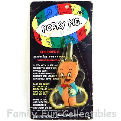 LOONEY TUNES~1974 Dyno~Safety Scissors~Porky Pig~Warner Brothers Figure~NEW NOC