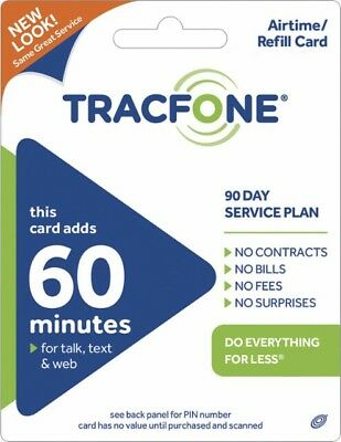 TracFone 60 Minute/90 Day Plan - PIN by Messaging/Email