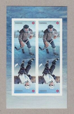 ma. HOCKEY HISTORY Block of 4 stamps on Middle Booklet page MNH Canada 2017