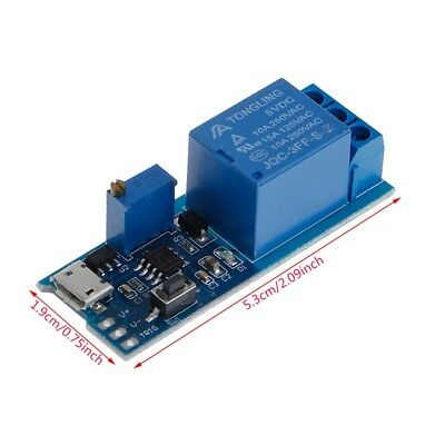 5V~30V Micro USB Power Relay Timer Control Module Trigger Delay Switch New