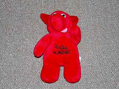 """1980s Best Made Toys of Toronto Hostess Munchies 13"""" Red Plush Doll"""