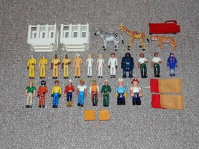 1970s Lot of 20 Fisher Price Adventure People, Husky Helpers & Some Accessories